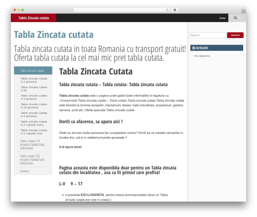 SmartAdapt free website theme - tabla-zincata-cutata.com