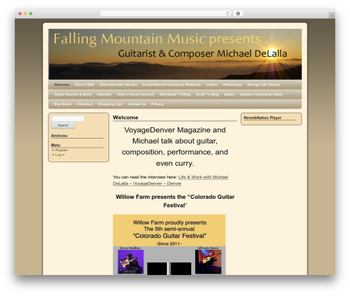 Template WordPress 2010 Weaver - fallingmountain.com