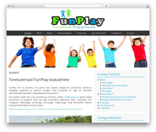 Template WordPress BlueGray - funplay.ee