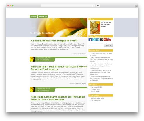 Template WordPress Citrus Mix - foodtradeconsultant.net