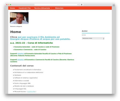 Template WordPress MesoColumn - unicas.org
