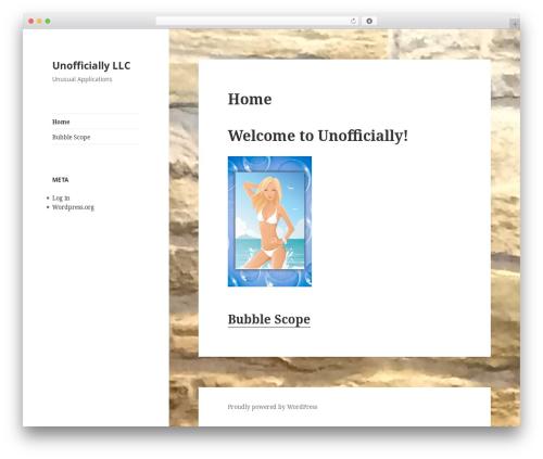 Template WordPress Twenty Fifteen - unofficiallyllc.com