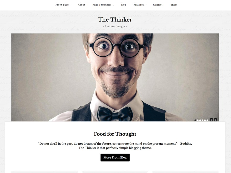The Thinker Theme WordPress blog template