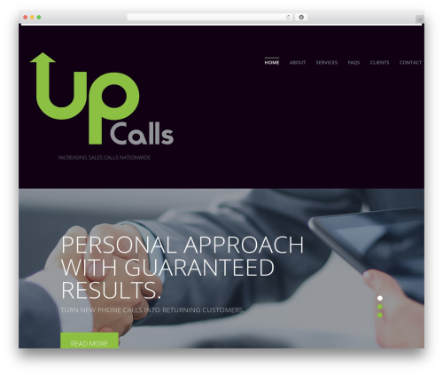 Theme WordPress cherry - upcalls.com