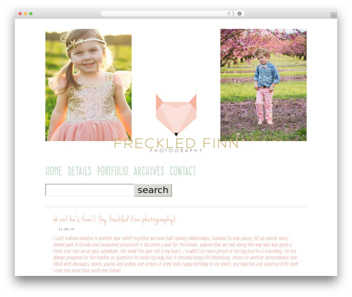 Theme WordPress ProPhoto - freckledfinn.com