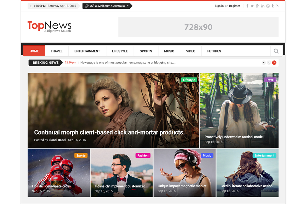 Top News best WordPress magazine theme