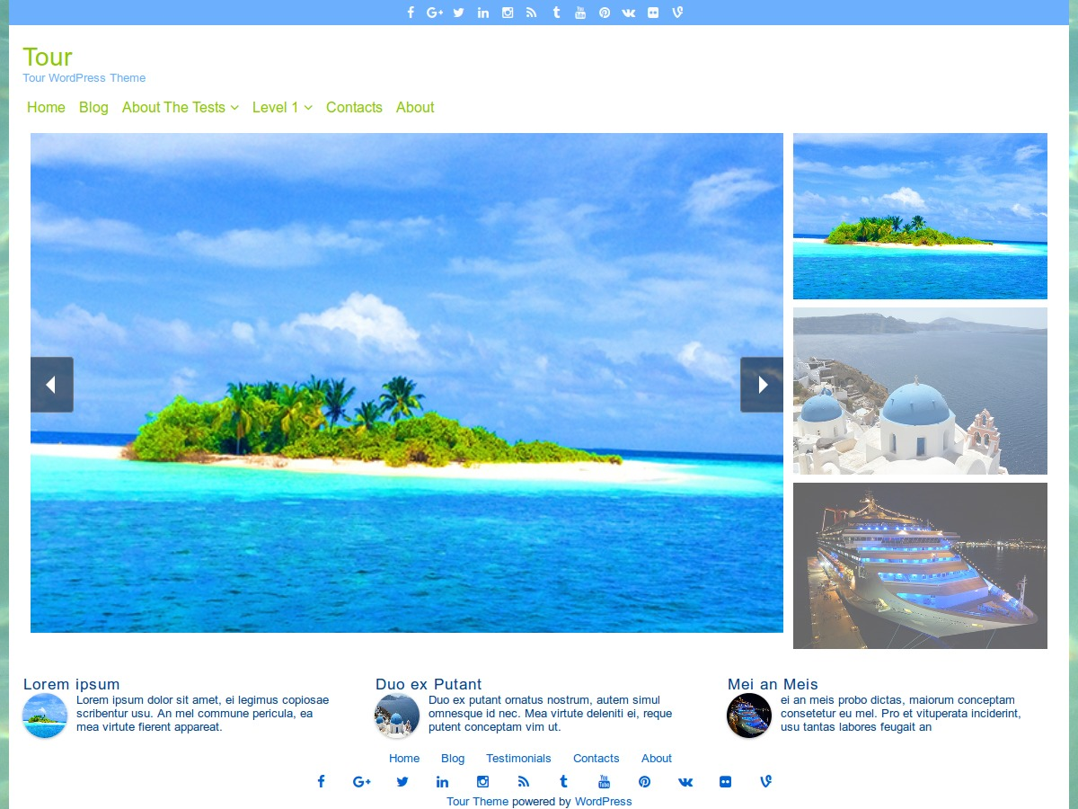 Tour free WordPress theme