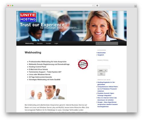 Twenty Eleven free WordPress theme - unitehosting.de