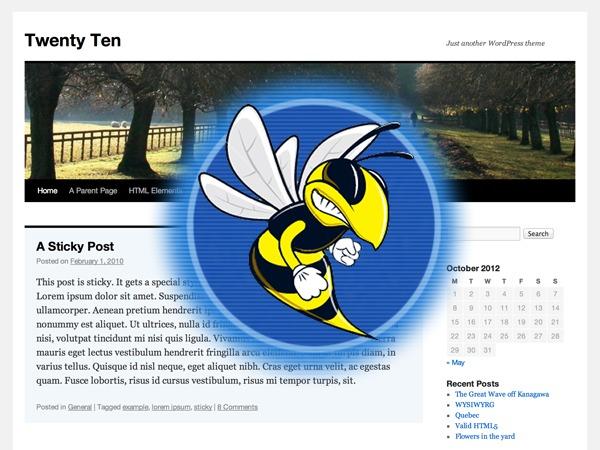Twenty Ten WordPress theme design