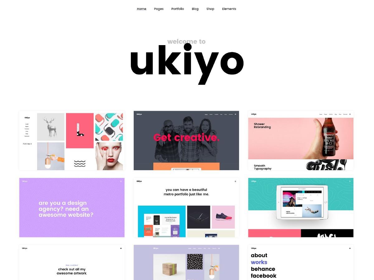 Ukiyo WordPress portfolio template