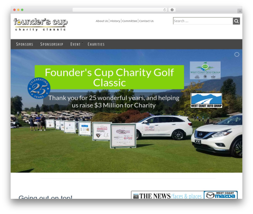 Ultimatum WordPress theme - founderscup.com