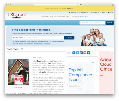 Free WordPress Page-list plugin - foreclosures.uslegal.com