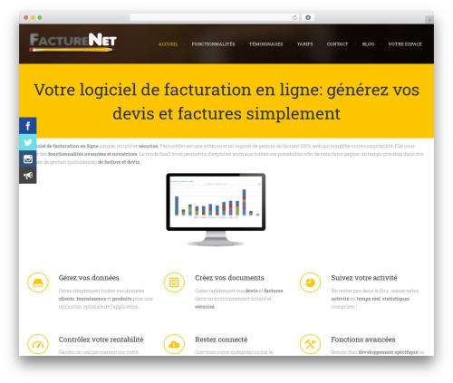 WordPress theme Chariot - facturenet.fr