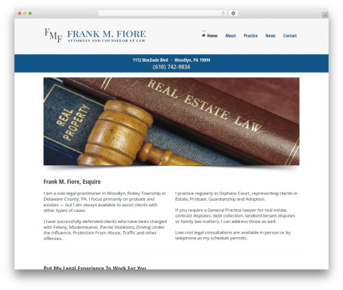 WordPress website template 3clicks Theme - fmfiorelaw.com