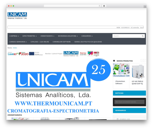 WPO Shopping WordPress ecommerce template - unicam.pt