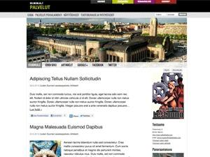 Yritys '13 WordPress theme design