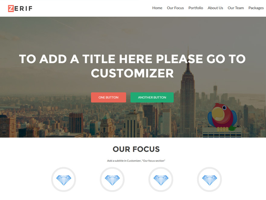 Zerif-Lite Child best WordPress template