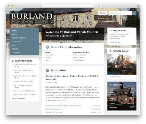 Best WordPress template TownPress - burlandpc.org.uk
