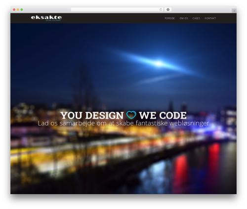 eksakte WordPress theme design - bureau.eksakte.dk