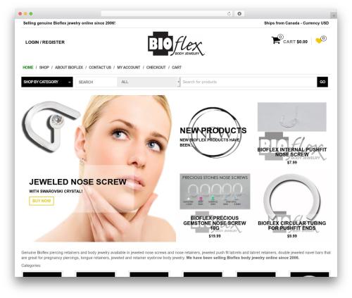 MaxStore free WordPress theme - bioflexbodyjewelry.com