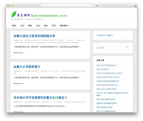 Responsive free WP theme - blog.eazeinternational.com
