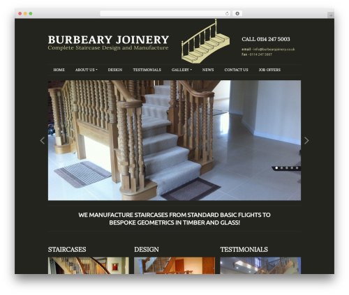 Rockwell 1.7.1 WordPress gallery theme - burbearyjoinery.co.uk