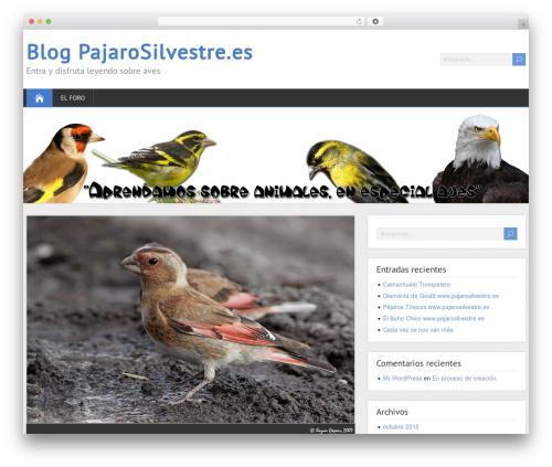 ShootingStar best free WordPress theme - blog.pajarosilvestre.es