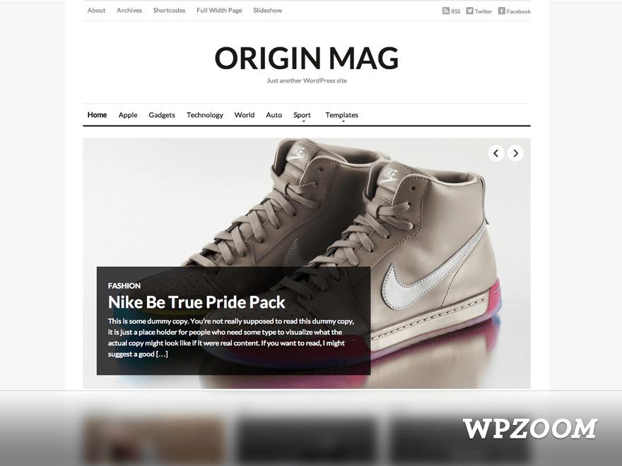 WordPress template OriginMag (new)