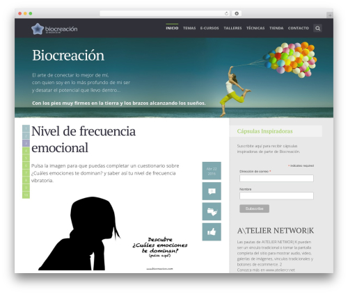 WordPress theme SeaShell - biocreacion.org