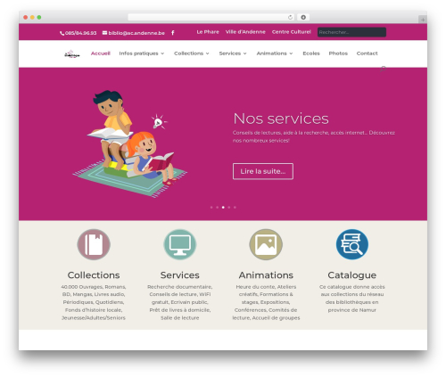 Andenne Child WordPress theme - bibliotheque.andenne.be