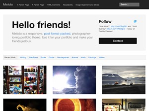 Mixfolio - Blog Derivative personal WordPress theme