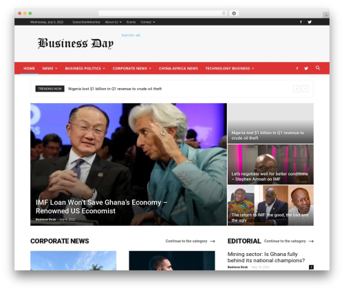WordPress td-multi-purpose plugin - businessdayghana.com