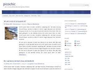 picochic top WordPress theme