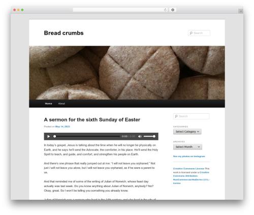 Twenty Eleven free WordPress theme - breadcrumbs.catherinedkerr.com