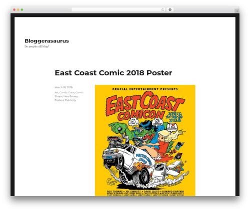 Twenty Sixteen WordPress theme download - bloggerasaurus.com