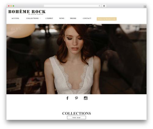 Versatile Perso theme WordPress - bohemerock.com