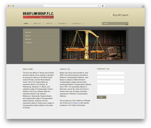 Vertical WordPress theme - bradylawgroup.net