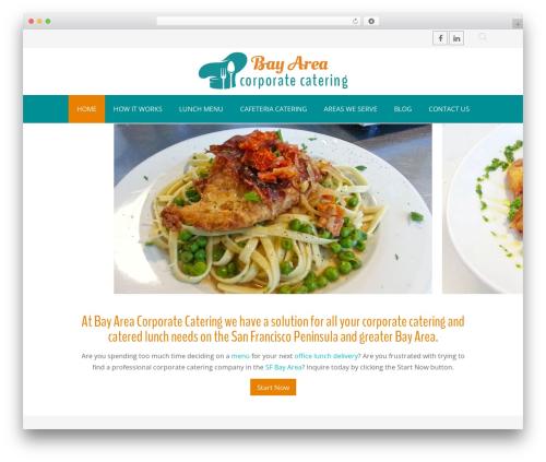 WordPress theme Chester - bayareacorporatecatering.com