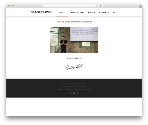 WordPress website template Pro - bradleywill.com