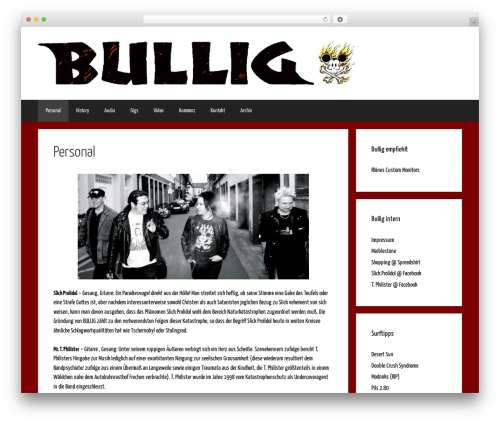 WP theme GeneratePress - bullig.de