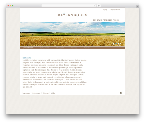 BB top WordPress theme - bayernboden.de