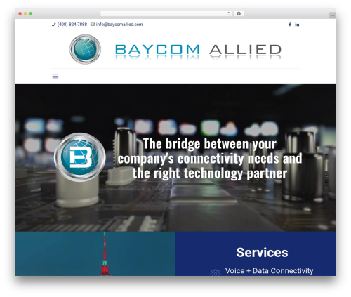 Best WordPress template Betheme - baycomallied.com