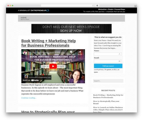 Breeze by Bluth Company (Share on Theme123.Net) top WordPress theme - blog.aminimalistentrepreneur.com
