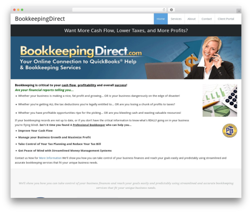 Busiprof Child Theme for BKD template WordPress - bookkeepingdirect.com