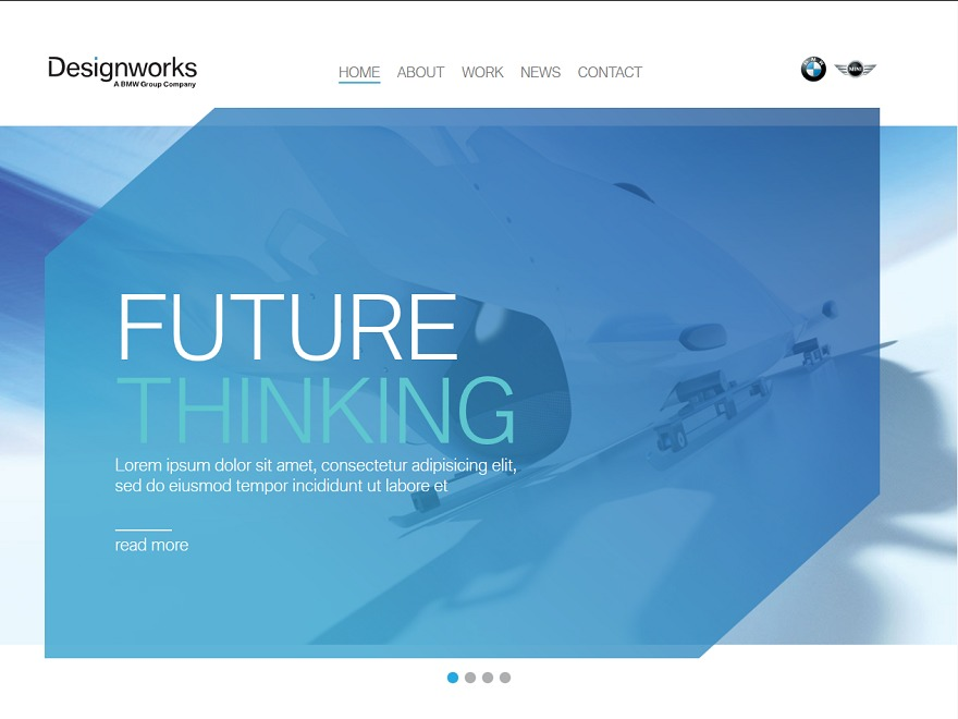 Designworks WordPress page template