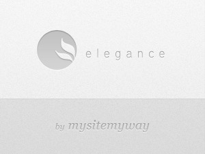Elegance WordPress page template