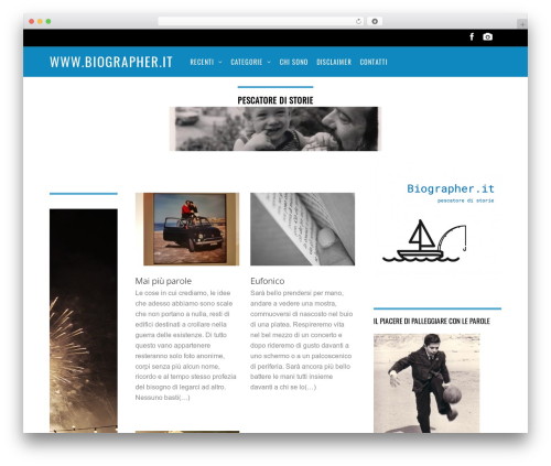 Magazine best WordPress theme - biographer.it