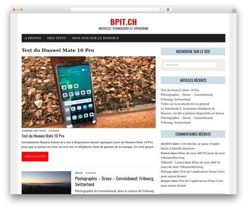 MH Newsdesk lite template WordPress free - bpit.ch
