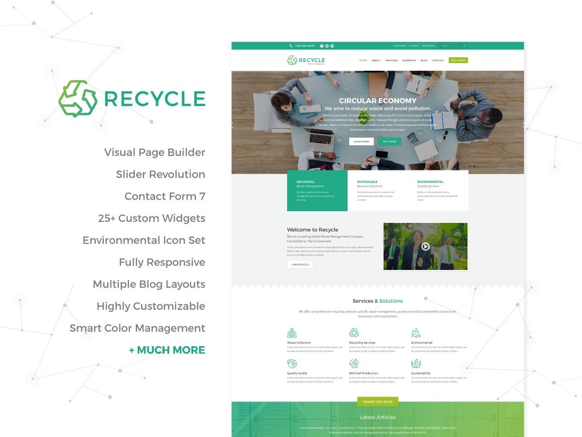 Recycle child theme WordPress theme