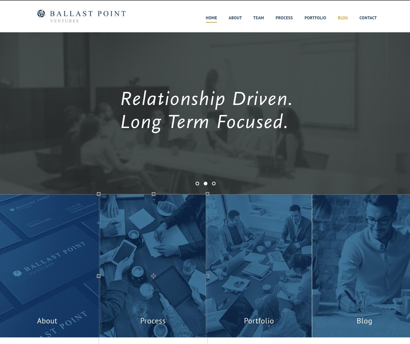 Theme WordPress Ballast Point Ventures